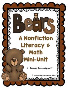 Bears Nonfiction Literacy and Math Mini Unit