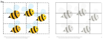 Bears Love Honey Cut and Paste Puzzles P-K,K,Special Education, Autism