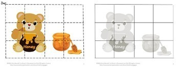 Bundle Bears Love Honey NO PREP/LOW PREP Math and Literacy Centers Printables