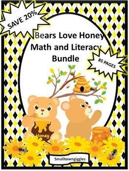 Bundle Bears Love Honey Fine Motor Skills, Special Education Early Childhood