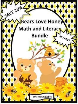Bundle Bears Love Honey NO PREP/LOW PREP Math and Literacy