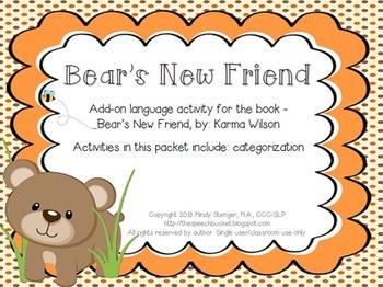 Bear's New Friend (Add-On Language Activity)
