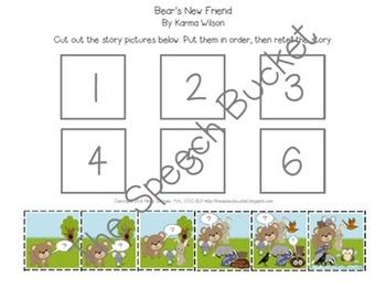 Bear's New Friend - Speech and Language Companion Packet