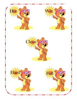 Bear's Opposite Words!  File Folder Game