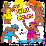 Bears Painting Clip Art | Paint Strokes | Backgrounds