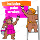 Bears Painting Clip Art   Paint Strokes   Backgrounds