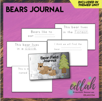 Bears Printable Journal