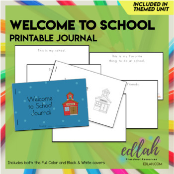 Welcome to School Printable Journal