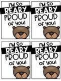 Beary Proud Brag Tags FREEBIE