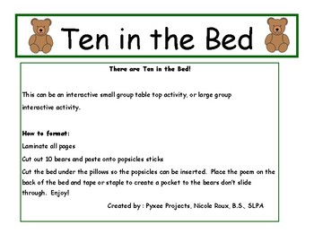Bears: Ten in a Bed