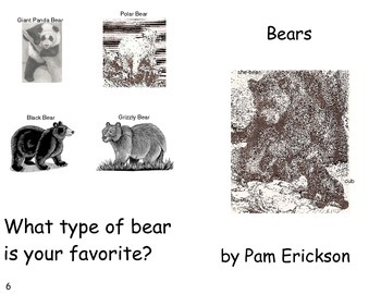 Bears- a non-fiction guided reading book