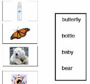 Bears and B-Words Activity Center