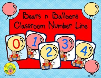 Bears 'n' Balloons Classroom Number Line
