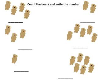 Bears and Buttons...Sorting, Counting and Number Recognition