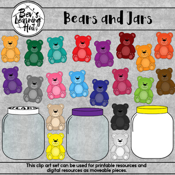 Bears and Jars Clip Art Set for printable and digital resources