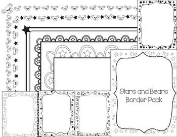 Bears and Stars Border Pack - Personal Use