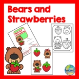Bears and Strawberries File Folder Game