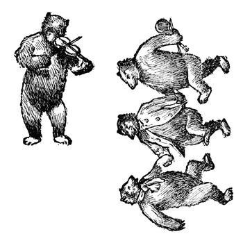 Bears and music clipart