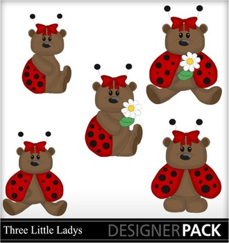 Bears dressed up as bugs