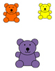 Bears in Squares File Folder Game