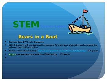 Bears in a Boat Sink or Float Boyancy Powerpoint