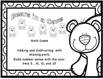 Bears in a Cave Addition and Subtraction Through 5