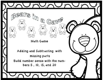 Bears in a Cave Addition and Subtraction Through 10