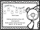 Bears in a Cave Addition and Subtraction Worksheets