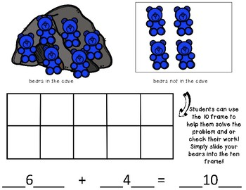 Bears in a Cave Number Sense Game