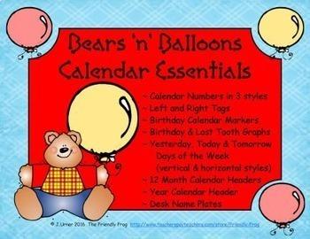 Bears 'n' Balloons Calendar Essentials