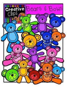 Bears n Bows {Creative Clips Digital Clipart}