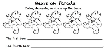 Bears on Parade (Ordinal Numbers)