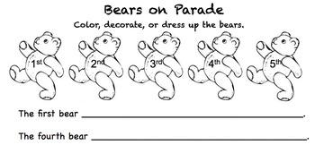 Bears on Parade (Ordinal Numbers)