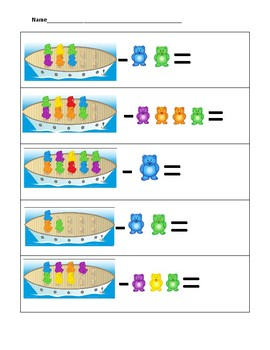 Bears on a Boat Subtraction