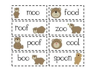 Bears - oo and Other Literacy Activities