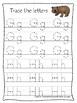 Bears themed A-Z Tracing Worksheets.Printable Preschool Handwriting