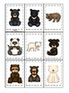 Bears themed Memory Match Game. Printable Preschool Game