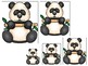 Bears themed Size Sequence. Printable Preschool Game