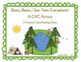 Bears...Bears...I See Them Everywhere!  A CVC Activity