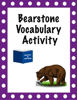 Bearstone Vocabulary Activity and Key