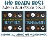 Beary Best Bulletin Board and Door Decor