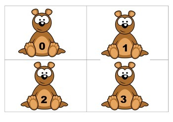 """""""Beary-Cute"""" Number Flashcards 0 - 100"""