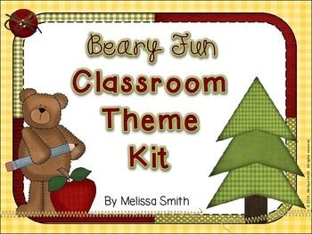 Beary Fun Classroom Theme Kit