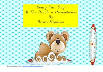 Beary Fun Day At The Beach - Homophones