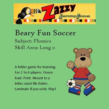 Beary Fun Soccer Folder Game for Long o