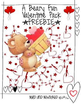 Beary Fun Valentine *Freebie*