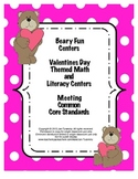 Beary Fun Valentines Day Themed Math and Literacy Centers