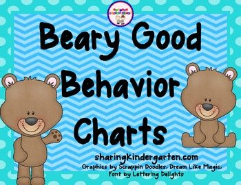 Beary Good Behavioral Charts