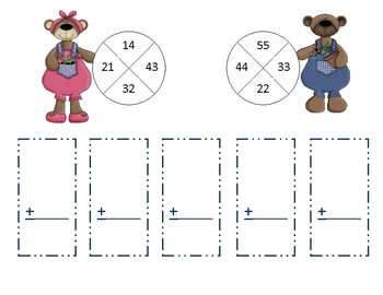 Beary Good Two digit Addition
