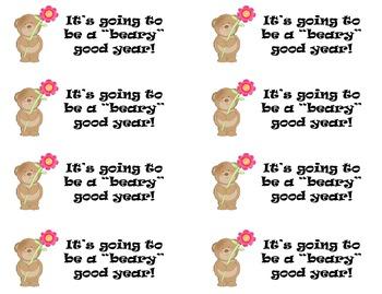 Beary Good Year Treat Tags {FREEBIE}